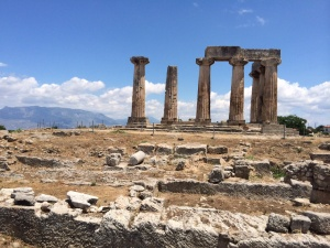 A last view of Corinth - the Temple of Apollo